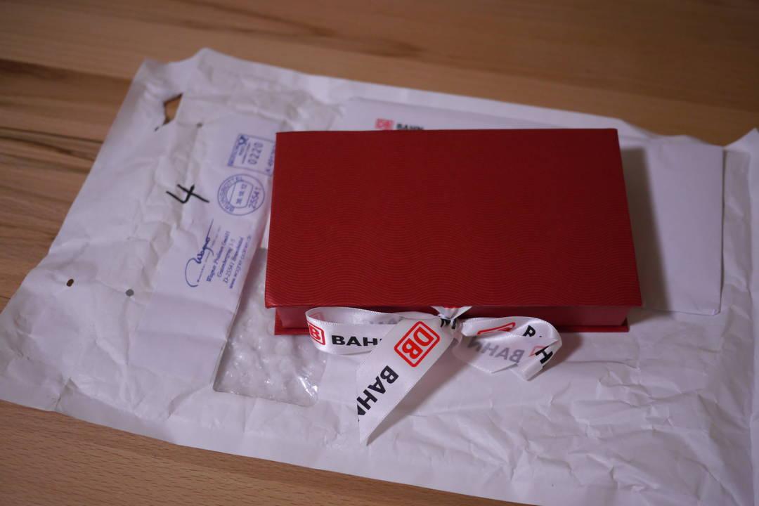 Pralinenschachtel mit Briefumschlag
