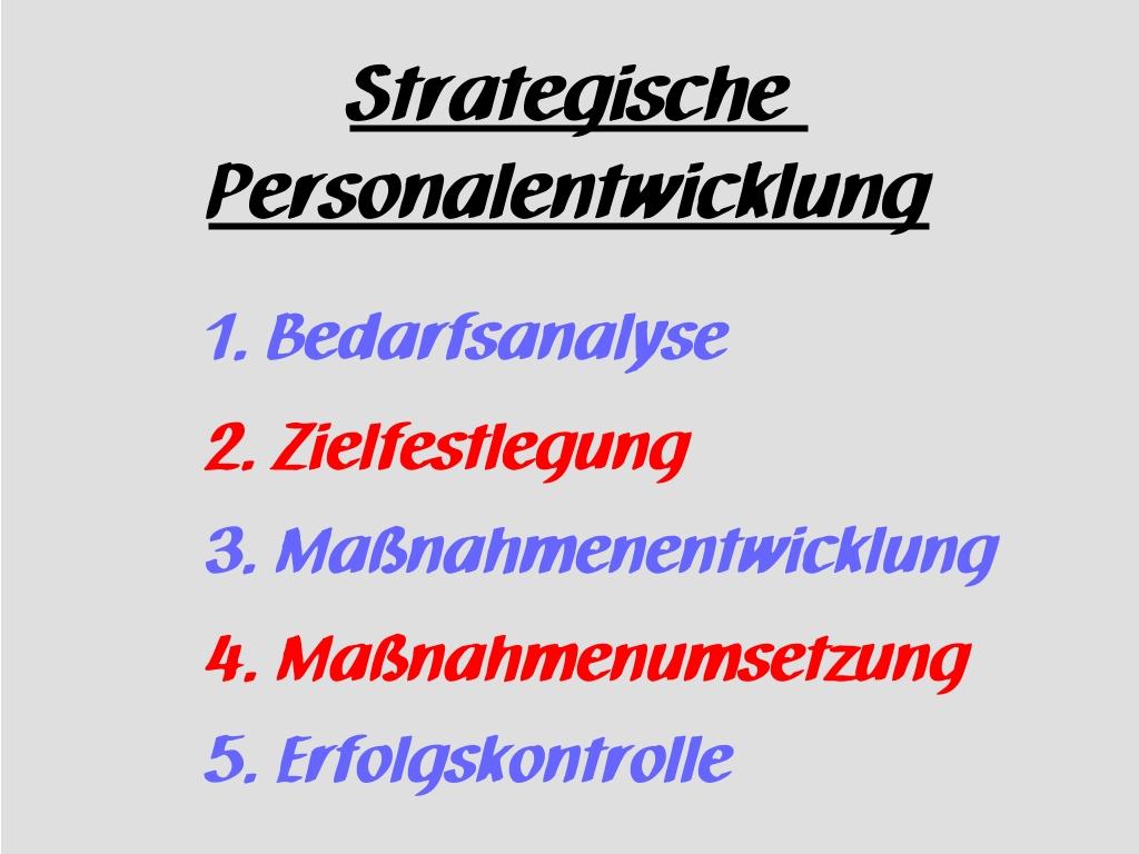 Fünf Phasen der Strategischen Personalentwicklung