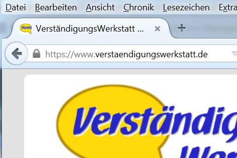 URL der VerständigungsWerkstatt im Browserfenster