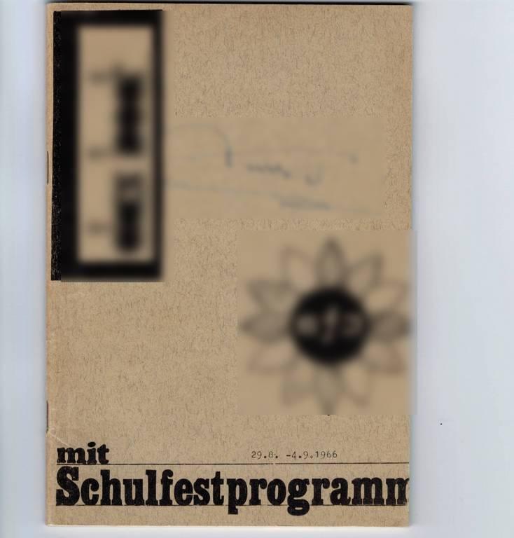 """Titelblatt einer Ausgabe der Schülerzeitung """"das boot"""" von 1966"""