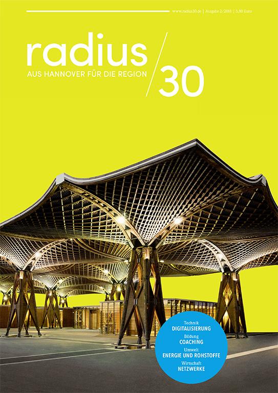 """Titelblatt der Ausgabe 2/2018 des Magazins """"radius/30"""""""