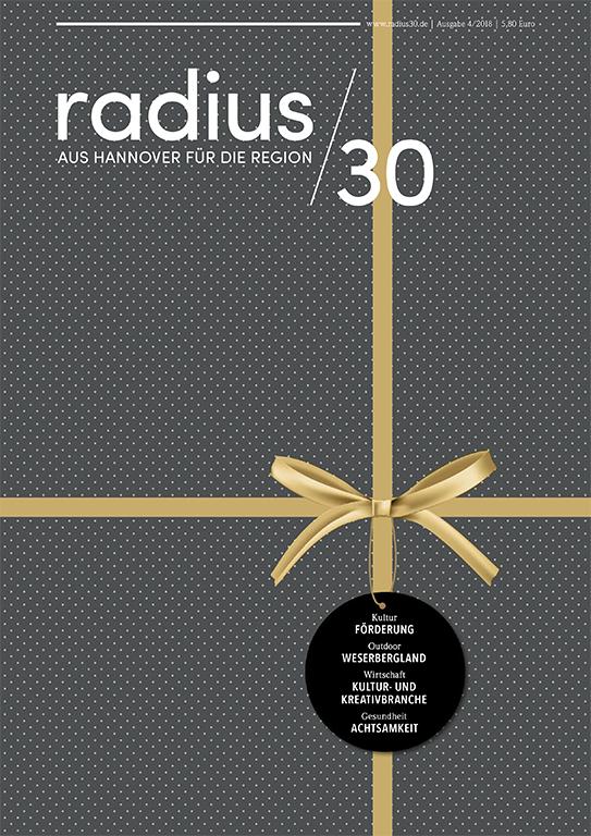 """Titelblatt der Ausgabe 4/2018 des Magazins """"radius/30"""""""
